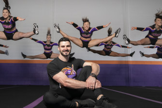 Michael Wedgewood is a cheerleader who now runs his own club in Sydney.