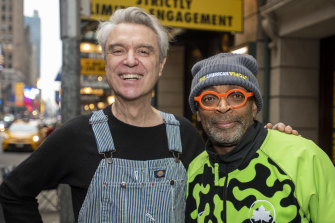 David Byrne, left, and Spike Lee.