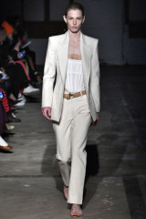 Well suited ... Dion Lee's show at New York Fashion Week.