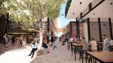 An artist's impression of the new markets planned for the old Subi markets site.