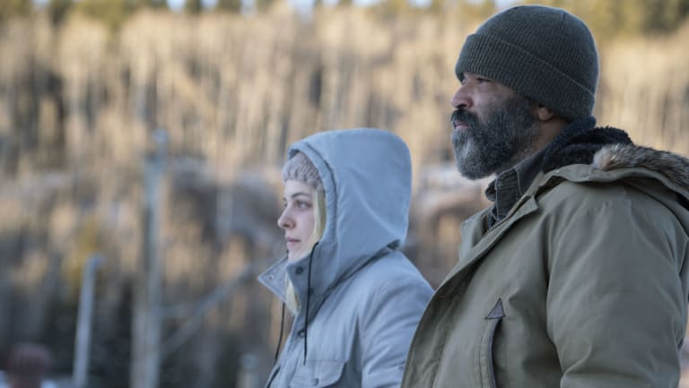 Riley Keough, left, and Jeffrey Wright star in Hold the Dark.