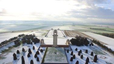 The Sir John Monash Centre in the snow.