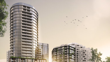 An artists impression of Geocon's Wova development in Woden. It was given the green light to start building next year.