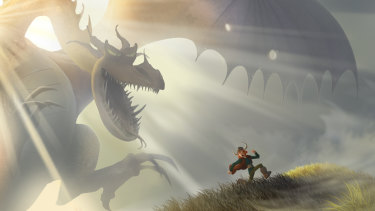 Pierre-Olivier Vincent's artwork from How to Train Your Dragon (2010).