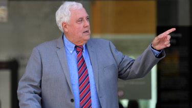 Clive Palmer leaves the Brisbane Supreme Court last week.