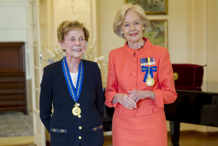 Appointed an Honorary Companion in the General Division, Professor Jill Ker Conway, and the Governor-General Quentin Bryce AC CVO, 2013.