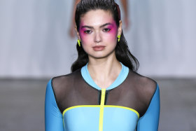 Miami-based label Chromat debuted a new line of swimwear made from recycled plastics.