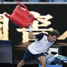 Carreno Busta booed off court after bag-throwing meltdown