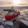 Ice to be back: Freo arrival on fire-struck ship marks end to pandemic isolation for Antarctic crew