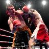Jeff Horn in his fight with Michael Zerafa in Brisbane last December.