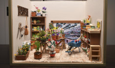 'Full of tiny joys' - a miniature gardening shed created by artist Lyn Mallett.