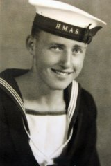 Frank McGovern in 1939, assigned to HMAS Perth.