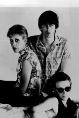 The Go-Betweens in 1983. Left to right: Morrison, Robert Forster, Grant McLennan.