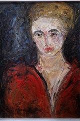 Danila Vassilieff, Lisa in Red Blouse,  1947.
