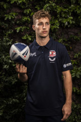 """Roosters coach Trent Robinson describes Sam Walker as an """"old-school half""""."""