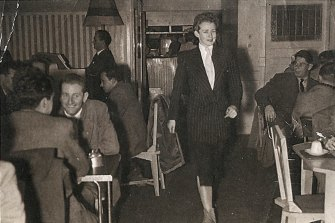 Val Eastwood in her Coffee Lounge in Swanston Street c1950s.