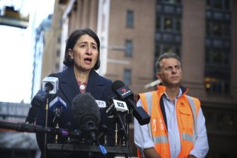Premier Gladys Berejiklian and Transport Minister Andrew Constance confirm the sites of the new train stations for Metro West.