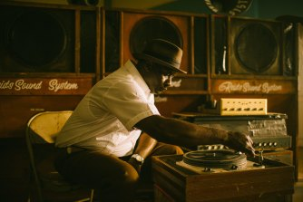 Duke Reid (portrayed here by an actor), Jamaica's sound system pioneer.