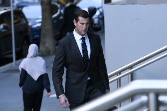 Ben Roberts-Smith arrives at court on Wednesday morning.