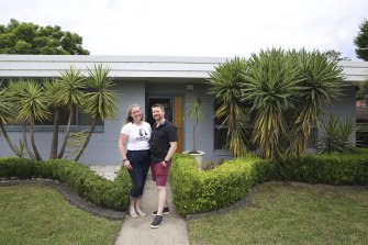 Katie Bell and Stuart Bucknell bought their home in Loftus in the Sutherland Shire during the pandemic.