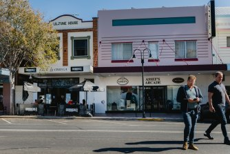 Cafe Omega and Assef's on Balo Street, Moree on Monday afternoon.