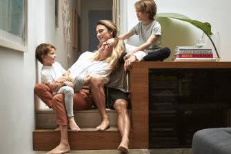 Eugene Tan with wife Debbie, and sons Jet and Spike.