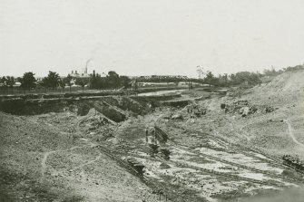 The course of the Yarra was altered at the turn of the 20th century.