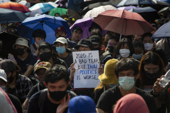 An estimated 10,000 anti-government protesters turned out on Sunday.