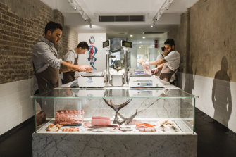 The clean lines of Josh Niland's inner-Sydney Fish Butchery.