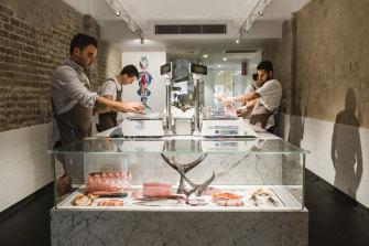 The clean lines of Josh Niland's inner-Sydney Fish Butchery.