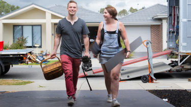 Glen Young and fiancee Jai-Molly Boudrie are moving from Cranbourne West to a new home five minutes away.