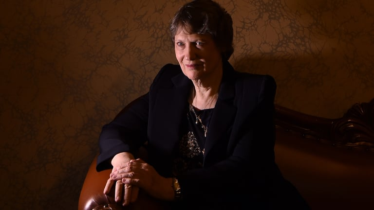 Former New Zealand Prime Minister and former head of UNDP Helen Clark visiting NSW State Parliament, Sydney.