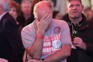 The mood at Labor's election night party was not as buoyant as Friday