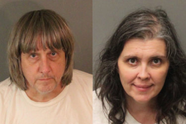 Riverside County Sheriff's Department show David Allen Turpin, left, and Louise Anna.