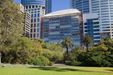 The 12th floor apartment in the Macquarie Apartments on Sydney's Macquarie Street sold for $7.1 million.