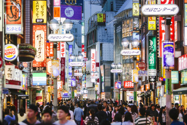 People walking in Shibuya  shopping district. Life & Leisure. January 17 edition. Colin Brookes traveller Q & A. Photo: iStock
