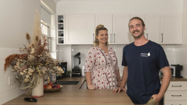 Emily Nowland and Chris Kelly are happier living in their own home.