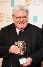 Two-time Oscar nominee Alan Parker receiving the Fellowship award at the EE British Academy Film Awards, Royal Opera House, London, 2013.