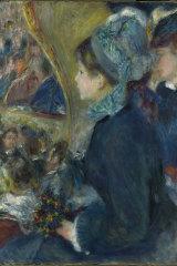 Pierre-Auguste Renoir's At the Theatre (La Première Sortie), 1876-7.