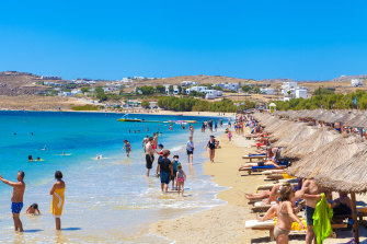 The beach in Mykonos - Greece and Israel have already agreed to allow vaccinated travelers to move between the two countries.