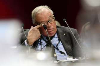 David Chandler during a hearing at Parliament House last August.