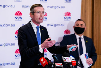 NSW Treasurer Dominic Perrottet says the state's budget deficit is set to balloon to $19 billion due to the Delta outbreak.