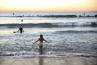 Bathers at dawn