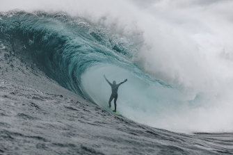 Professional big wave surfer Mark Mathews (pictured) talked to the Blues before Origin II.