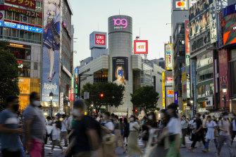 Shibuya Crossing at the heart of Tokyo.