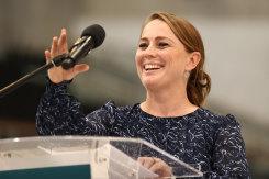 Write on: Australian Paralympic team chef de mission Kate McLoughlin.