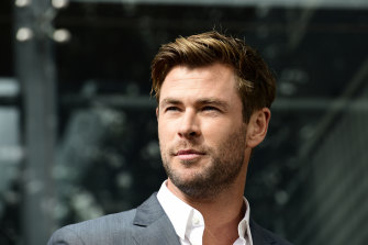 Australian actor and Thor star Chris Hemsworth.