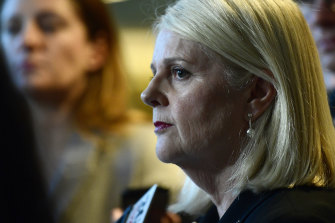 """Federal Industry Minister Karen Andrews says the coronavirus pandemic has shown """"that there are some things that we have to be self-sufficient in""""."""