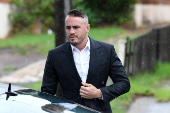 Josh Reynolds outside Sutherland Local Court on Friday.