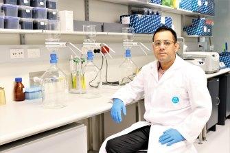 Dr Warish Ahmed, team leader of the CSIRO's wastewater testing program.